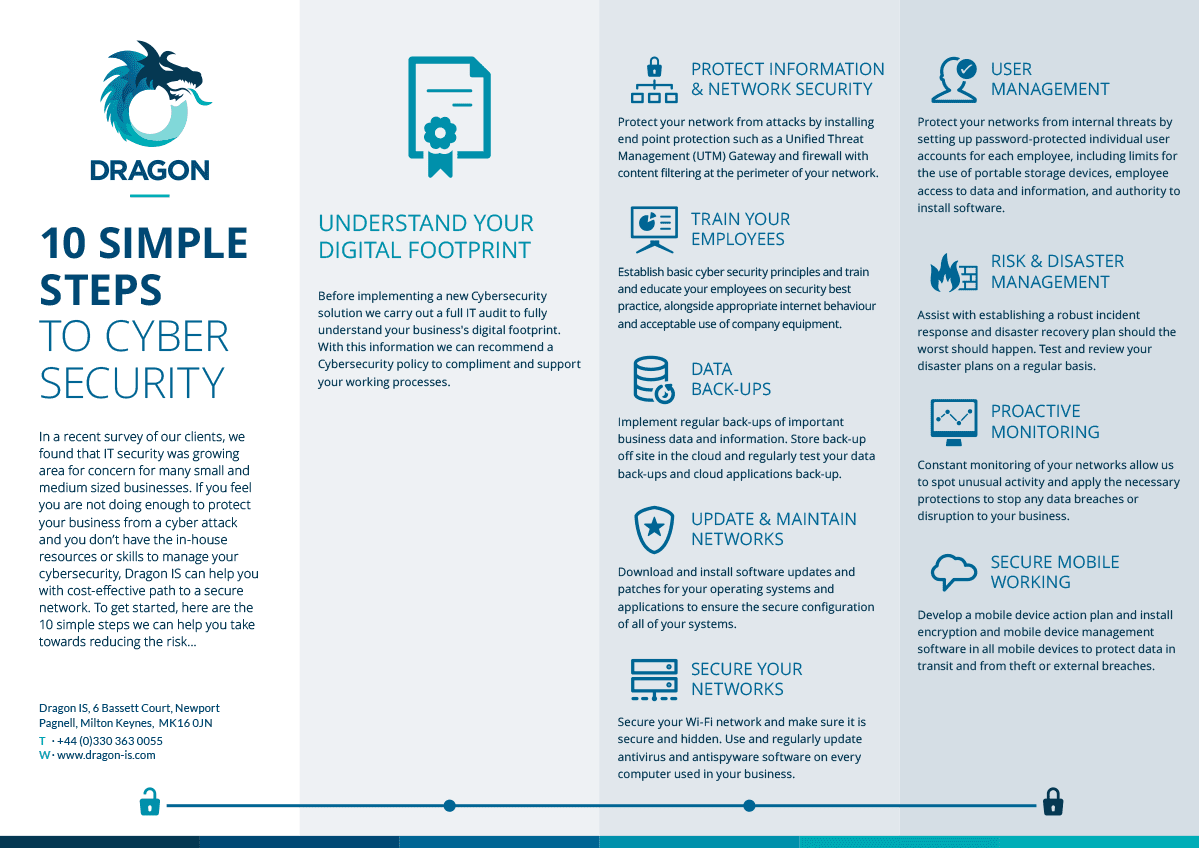 Cyber Security 10 step guide